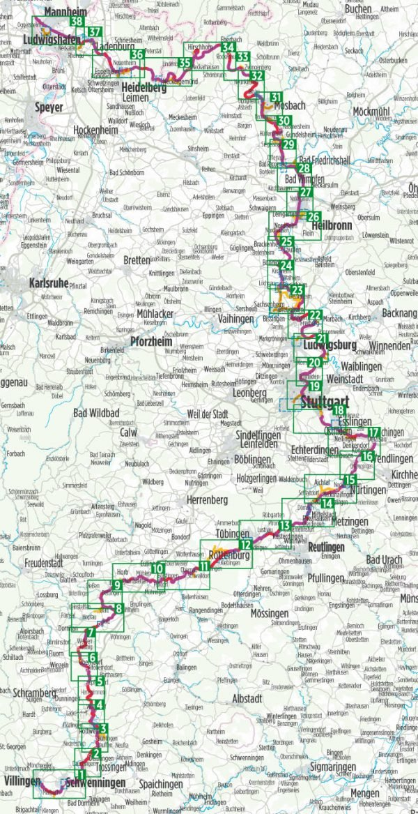Bikeline Neckartal-Radweg | fietsgids 9783850006262  Esterbauer Bikeline  Fietsgidsen Baden-Württemberg, Zwarte Woud