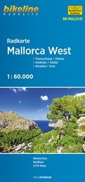 RK-MALLO01 Mallorca West 1:60.000 9783850006743  Esterbauer Bikeline Radkarten  Fietskaarten Mallorca