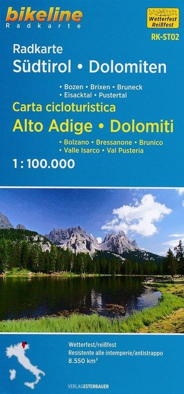 RK-ST02  Südtirol, Dolomiten  1:100.000 9783850006774  Esterbauer Bikeline Radkarten  Fietskaarten Zuidtirol, Dolomieten, Friuli, Venetië, Emilia-Romagna