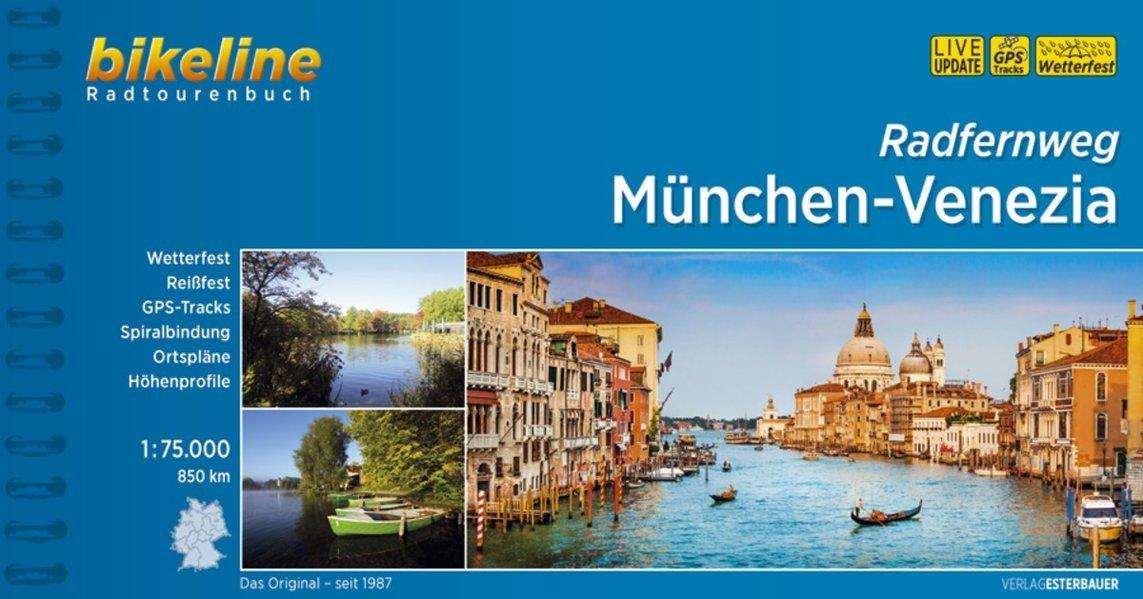 Bikeline München - Venezia | fietsgids 9783850006842  Esterbauer Bikeline  Fietsgidsen, Meerdaagse fietsvakanties Zwitserland en Oostenrijk (en Alpen als geheel)