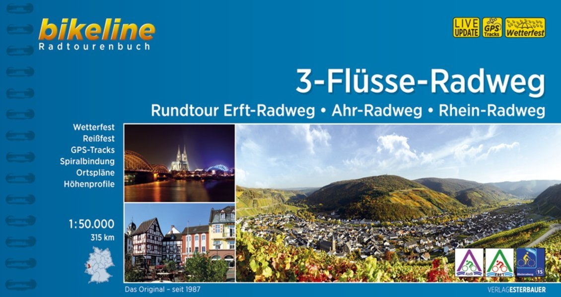 Bikeline 3-Flüsse-Tour | fietsgids 9783850006989  Esterbauer Bikeline  Fietsgidsen Hessen