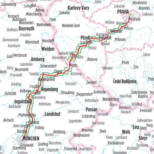Bikeline München - Regensburg - Praag (482km) | fietsgids 9783850007009  Esterbauer Bikeline  Fietsgidsen, Meerdaagse fietsvakanties Beieren, Tsjechië