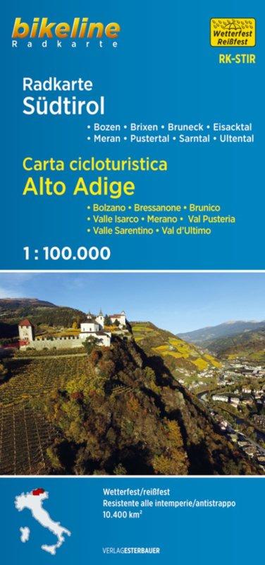 RK-STIR  Südtirol /Alto Adige 1:75.000 9783850007474  Esterbauer Bikeline Radkarten  Fietskaarten Zuidtirol, Dolomieten, Friuli, Venetië, Emilia-Romagna