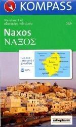 KP-246  wandelkaart/wegenkaart Naxos 1:50.000   Kompass wandelkaart 9783850260282  Kompass Wandelkaarten   Landkaarten en wegenkaarten Egeïsche Eilanden