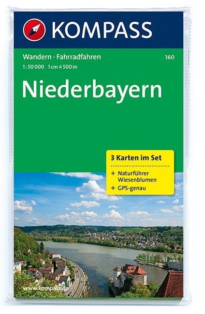 KP-160 Niederbayern | wandelkaart 1:50.000 9783850261791  Kompass Wandelkaarten Kompass Duitsland  Wandelkaarten Beierse Woud, Regensburg