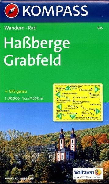 KP-815 Hassberge, Crabfeld | Kompass 9783850261876  Kompass Wandelkaarten   Wandelkaarten Beieren zonder de Alpen