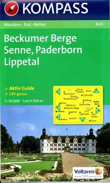 KP-843  Beckumer Berge, Senne 1:50.000 | Kompass 9783850261913  Kompass Wandelkaarten Kompass Duitsland  Wandelkaarten Teutoburger Woud & Ostwestfalen