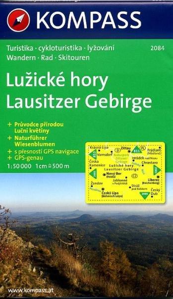 KP-2084  Lausitzer Gebirge 1:50.000 | Kompass wandelkaart 9783850262125  Kompass Wandelkaarten   Wandelkaarten Tsjechië