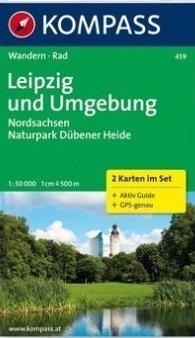 KP-459 Leipzig en omgeving 1:50.000 9783850263474  Kompass Wandelkaarten Kompass Duitsland  Wandelkaarten Leipzig
