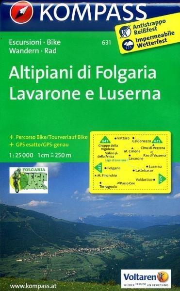 KP-631  Altipiani di Folgaria 1:25.000   Kompass wandelkaart 9783850264693  Kompass Wandelkaarten Kompass Italië  Wandelkaarten Zuid-Tirol, Dolomieten