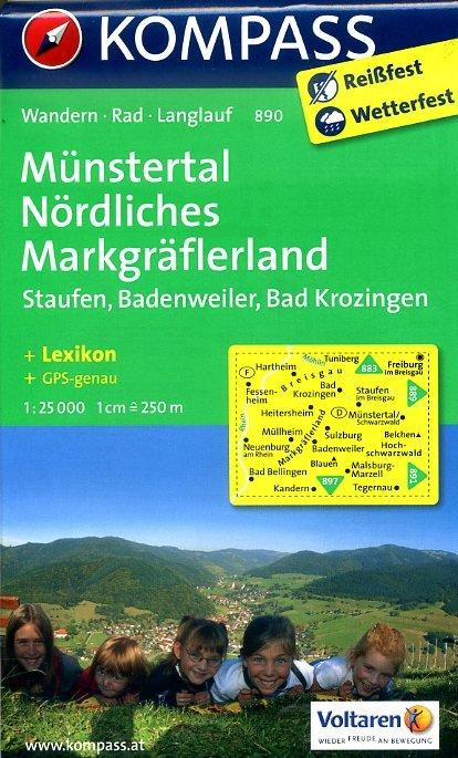 KP-890 Münstertal 1:25.000 | Kompass 9783850265027  Kompass Wandelkaarten   Wandelkaarten Baden-Württemberg, Zwarte Woud