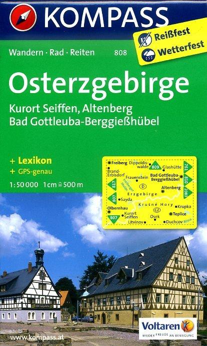 KP-808  Osterzgebirge | Kompass wandelkaart 9783850265072  Kompass Wandelkaarten Kompass Duitsland  Wandelkaarten Erzgebirge, Elbsandsteingebirge, Lausitz