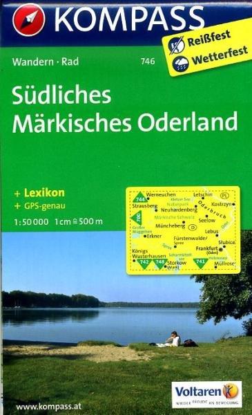 KP-746 Südliches Märkisches Oderland   Kompass wandelkaart 9783850265096  Kompass Wandelkaarten Kompass Duitsland  Wandelkaarten Brandenburg & Sachsen-Anhalt