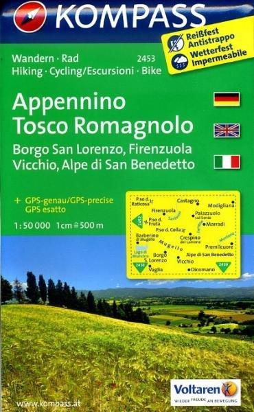 KP-2453 Appennino Tosco Romagnolo 1:50.000 | Kompass wandelkaart 9783850266000  Kompass Wandelkaarten Kompass Italië  Wandelkaarten Bologna, Emilia-Romagna, Toscane, Florence