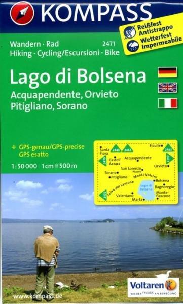 KP-2471 Lago di Bolsena 1:50.000 | Kompass wandelkaart 9783850266109  Kompass Wandelkaarten   Wandelkaarten Rome, Abruzzen