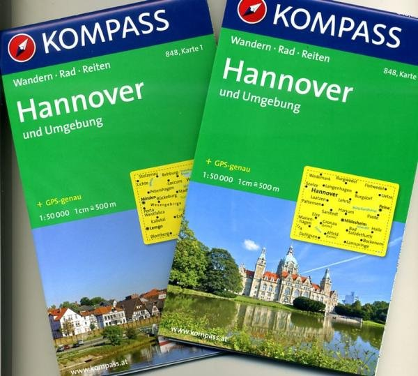 KP-848 Hannover, Weserbergland e.o. (met intekening E11) | Kompass 9783850266154  Kompass Wandelkaarten Kompass Duitsland  Wandelkaarten Lüneburger Heide, Hannover, Weserbergland