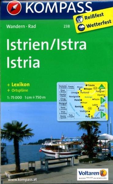 KP-238 Istrie   Kompass wandelkaart * 9783850266994  Kompass Wandelkaarten   Wandelkaarten Kroatië