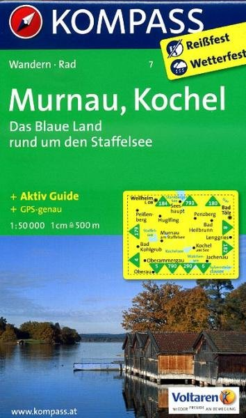 KP-7 Murnau-Kochel-Staffelsee | Kompass wandelkaart 9783850267083  Kompass Wandelkaarten Kompass Duitsland  Wandelkaarten Beierse Alpen