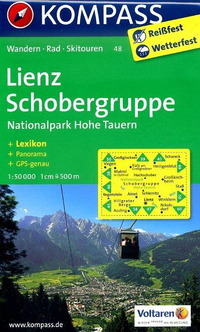 KP-48 Lienz-Schobergruppe | Kompass wandelkaart 9783850267328  Kompass Wandelkaarten   Wandelkaarten Salzburg, Karinthë, Tauern, Stiermarken