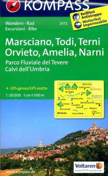 KP-2472  Marsciano, Todi, Teni Orvieto 1:50.000 | Kompass wandelkaart 9783850268455  Kompass Wandelkaarten Kompass Italië  Wandelkaarten, Wijnreisgidsen Umbrië