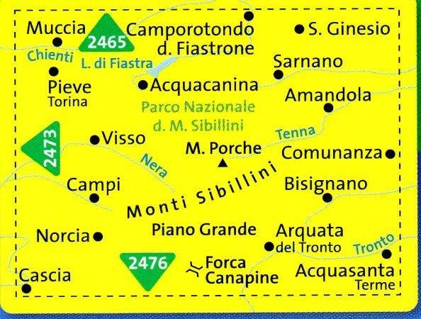KP-2474 Parco Nazionale dei Monti Sibillini 1:50.000 | Kompass wandelkaart 9783850268479  Kompass Wandelkaarten   Wandelkaarten Toscane, Umbrië, de Marken