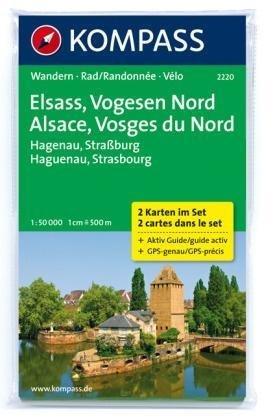 KP-2220 Vogezen-Noord (Vogesen-Nord) | Kompass wandelkaart 9783850268493  Kompass Wandelkaarten   Lopen naar Rome, Wandelkaarten Vogezen