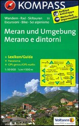 KP-53 Meran/Merano 1:50.000 | Kompass wandelkaart 9783850268837  Kompass Wandelkaarten   Wandelkaarten Zuidtirol, Dolomieten, Friuli, Venetië, Emilia-Romagna