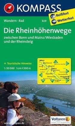 KP-829 Die Rheinhöhenwege | Kompass 9783850268950  Kompass Wandelkaarten Kompass Duitsland  Wandelkaarten Mittelrhein, Loreley, Westerwald