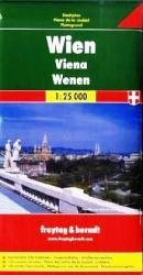 Stadsplattegrond Wenen 1:25.000 9783850841023  Freytag & Berndt   Stadsplattegronden Wenen, Noord- en Oost-Oostenrijk