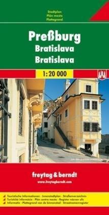 Bratislava 1:20.000 | stadsplattegrond 9783850841139  Freytag & Berndt Stadsplattegrond  Stadsplattegronden Slowakije
