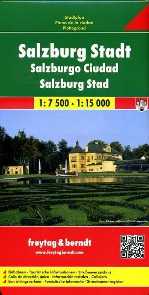 Salzburg | stadsplattegrond 9783850841184  Freytag & Berndt   Stadsplattegronden Salzburg, Karinthië, Tauern, Stiermarken