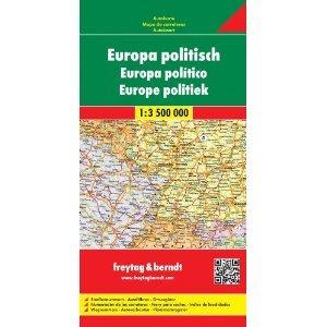 Europa politisch (staatkundige overzichtskaart) 1:3.500.000 9783850842228  Freytag & Berndt   Landkaarten en wegenkaarten Europa