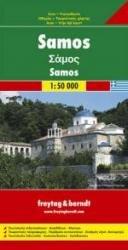 Samos | autokaart, wegenkaart 1:50.000 9783850845861  Freytag & Berndt   Landkaarten en wegenkaarten, Wandelkaarten Egeïsche Eilanden