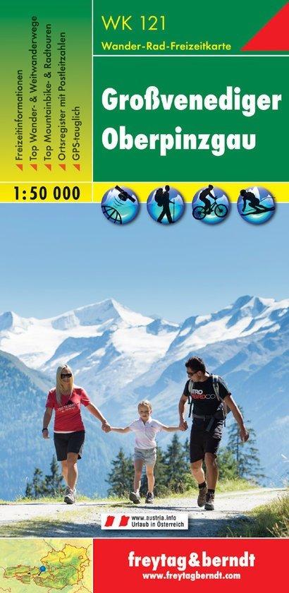 WK-121  Grossvenediger,Oberpinzgau 9783850847124  Freytag & Berndt WK 1:50.000  Wandelkaarten Salzburg, Karinthië, Tauern, Stiermarken