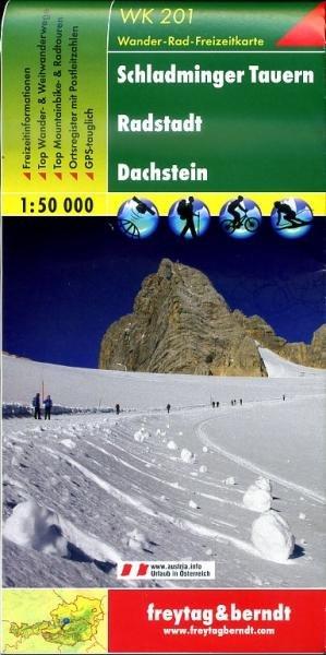WK-201  Schladminger Tauern,Radstadt,Dachstein 9783850847162  Freytag & Berndt WK 1:50.000  Wandelkaarten Salzburg, Karinthë, Tauern, Stiermarken