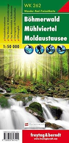 WK-262  Böhmerwald - Mühlviertel - Moldaustausee (Lipnomeer) 9783850847421  Freytag & Berndt WK 1:50.000  Wandelkaarten Tsjechië, Wenen, Noord- en Oost-Oostenrijk