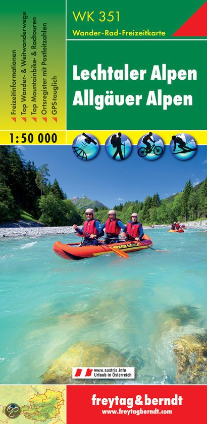 WK-351  Lechtaler - Allgäuer Alpen 9783850847582  Freytag & Berndt WK 1:50.000  Wandelkaarten Tirol & Vorarlberg