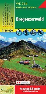 WK-364  Bezau, Bregenzer Wald, Dornbirn 9783850847643  Freytag & Berndt WK 1:50.000  Wandelkaarten Tirol & Vorarlberg