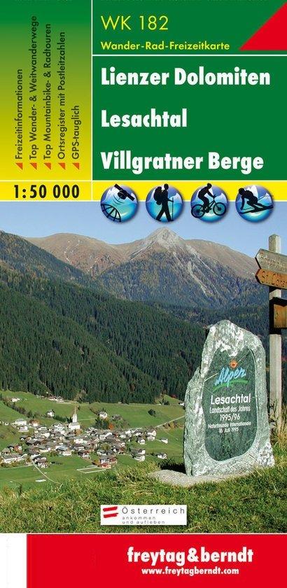 WK-182  Lienzer Dolomiten,Lesachtal 9783850847827  Freytag & Berndt WK 1:50.000  Wandelkaarten Salzburg, Karinthë, Tauern, Stiermarken