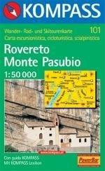 KP-101 Rovereto/Monte Pasubio | Kompass wandelkaart 9783854911036  Kompass Wandelkaarten   Wandelkaarten Zuidtirol, Dolomieten, Friuli, Venetië, Emilia-Romagna