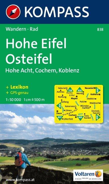 KP-838 Hohe Eifel-Osteifel | Kompass 9783854913634  Kompass Wandelkaarten Kompass Duitsland  Wandelkaarten Eifel
