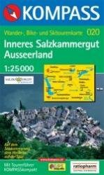KP-020  Inneres Salzkammergut, Ausseerland | Kompass wandelkaart 9783854914341  Kompass Wandelkaarten   Wandelkaarten Salzburg, Karinthë, Tauern, Stiermarken