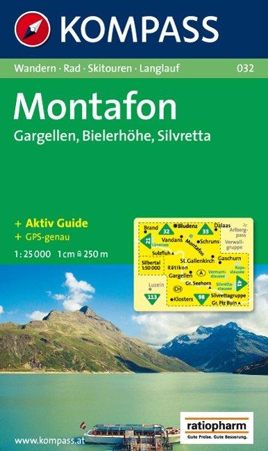 KP-032  Alpenpark Montafon | Kompass wandelkaart 9783854916147  Kompass Wandelkaarten   Wandelkaarten Tirol & Vorarlberg