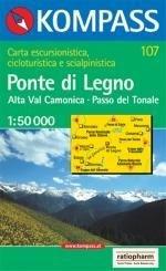 KP-107 Ponte di Legno | Kompass wandelkaart * 9783854917793  Kompass Wandelkaarten   Wandelkaarten Zuidtirol, Dolomieten, Friuli, Venetië, Emilia-Romagna