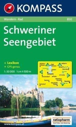 KP-850 Schweriner Seengebiet | Kompass 9783854917908  Kompass Wandelkaarten   Wandelkaarten Mecklenburg-Vorpommern, Rügen