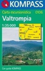 KP-0106  Valtrompia, Brescia,Gardone | Kompass wandelkaart * 9783854919025  Kompass Wandelkaarten   Wandelkaarten Zuidtirol, Dolomieten, Friuli, Venetië, Emilia-Romagna
