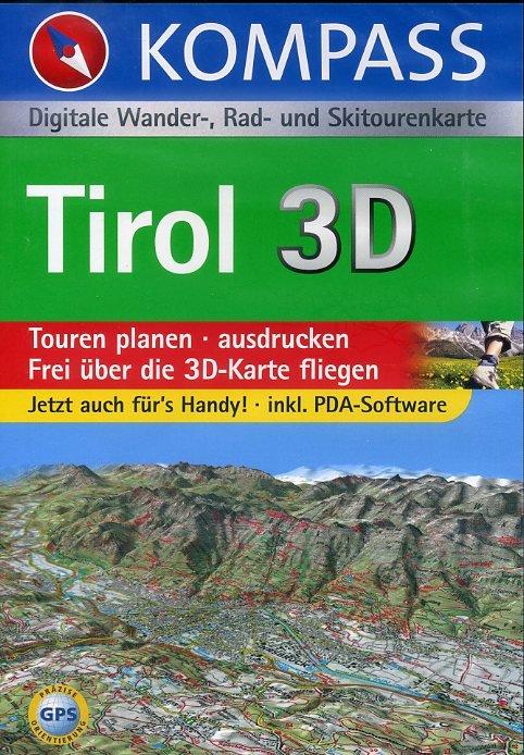 Tirol 9783854919957  Kompass GPS-Routenplaner  Wandelkaarten Tirol & Vorarlberg