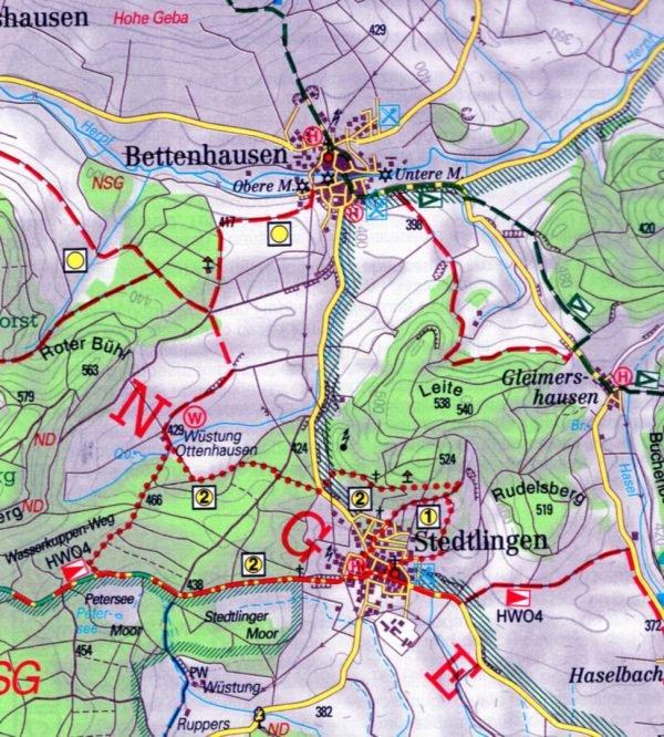 Die Rhön 1:50.000 9783861160687  Fritsch Landkarten-Verlag   Wandelkaarten Odenwald, Spessart en Rhön