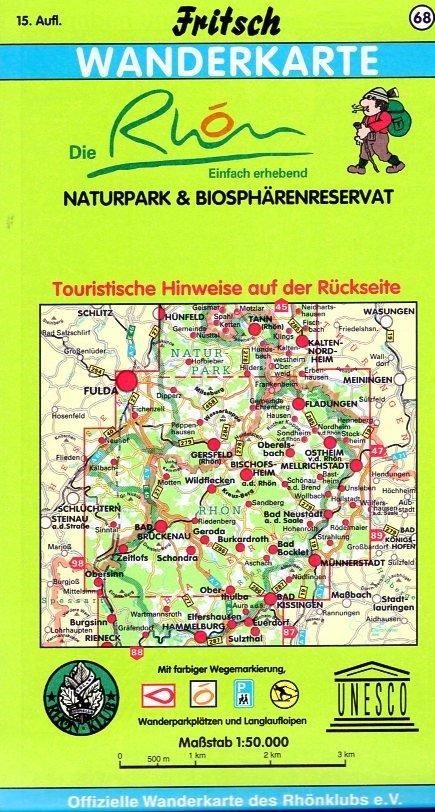 Die Rhön 1:50.000 9783861160687  Fritsch Landkarten-Verlag   Wandelkaarten Hessen