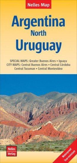 Argentinie, Noord- / Uruguay | wegenkaart - overzichtskaart 1:2.500.000 9783865740847  Nelles Nelles Maps  Landkaarten en wegenkaarten Chili, Argentinië, Patagonië